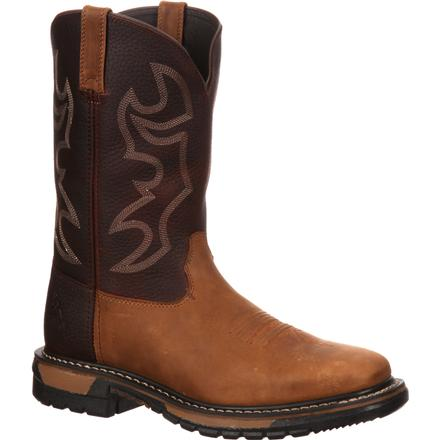 Rocky Original Ride Steel Toe Western Boot, , large