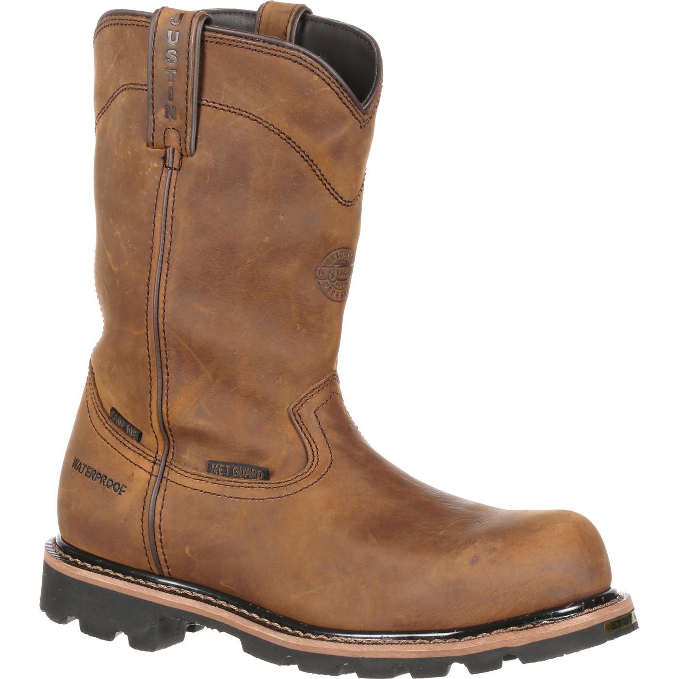Justin Work Composite Toe Metatarsal Pull On Boot Jwk4630