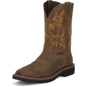 Justin Work Women S Stampede Steel Toe Western Work Boot