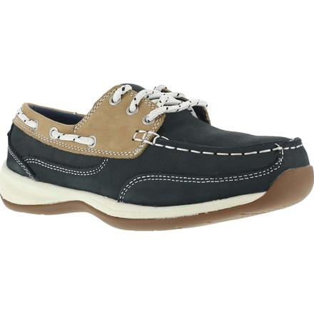 Rockport Works Sailing Club Women's Steel Toe Work Boat Shoe, , large