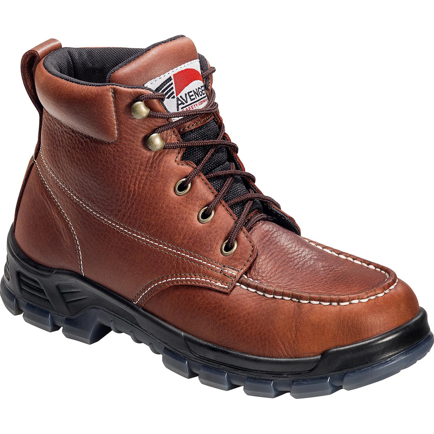 made in america moc toe steel toe work shoes by avenger