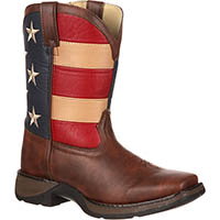 Lil' Durango Kid's Patriotic Western Flag Boot, , medium