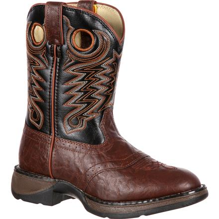Lil' Durango Big Kid Saddle Western Boot, , large