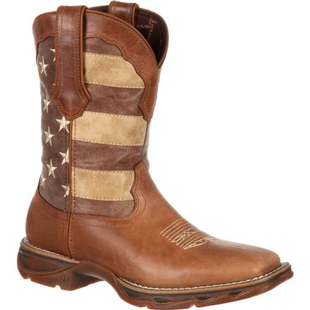 Lady Rebel by Durango Women's Faded Union Flag Western Boot, , large