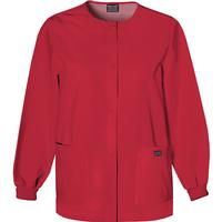 Cherokee Women's Red Snap-Front Warm-Up Top, , medium