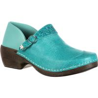 4EurSole Inspire Me Women's Western Embellished Leather Clog, , medium
