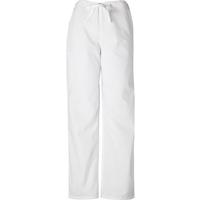 Cherokee Unisex White Drawstring Pant, , medium