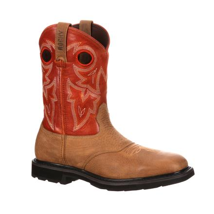 Rocky Farmstead Steel Toe Western Boot, , large