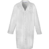"Cherokee Men's 40"" Black Belt White Lab Coat, , medium"