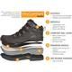 RefrigiWear Black Widow™ Women's Composite Toe Waterproof 200g Insulated Work Hiker, , small