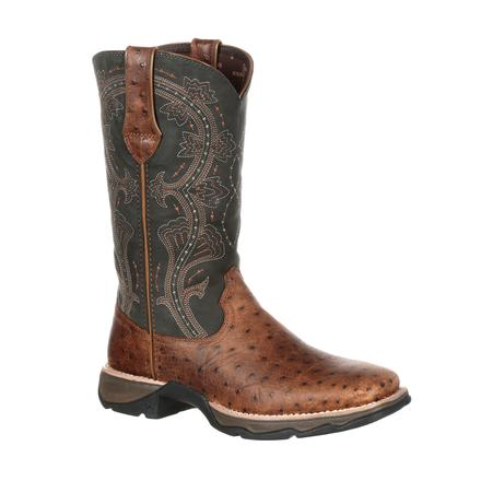 Lady Rebel by Durango Women's Ostrich Embossed Pull-On Western Boot, , large
