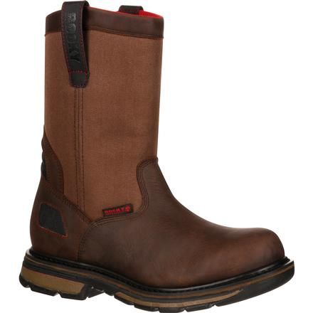 Rocky Hauler Composite Toe Waterproof Pull-On Work Boot, , large