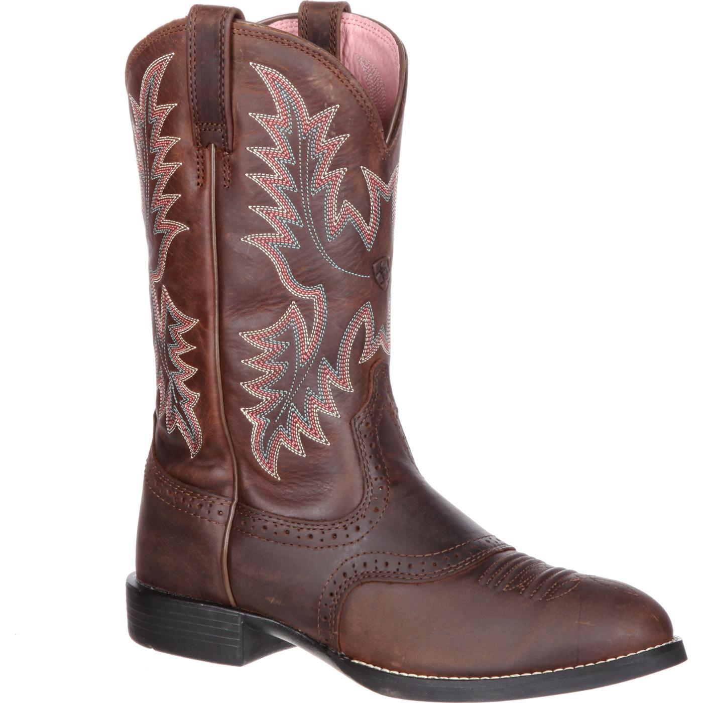 Ariat Women S Heritage Stockman Roper Western Boot 10001605