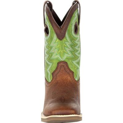 Durango® Lil' Rebel Pro™ Little Kid's Lime Western Boot, , large