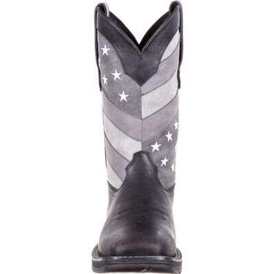 Rebel™ by Durango® Faded Black Flag Western Boot, , large