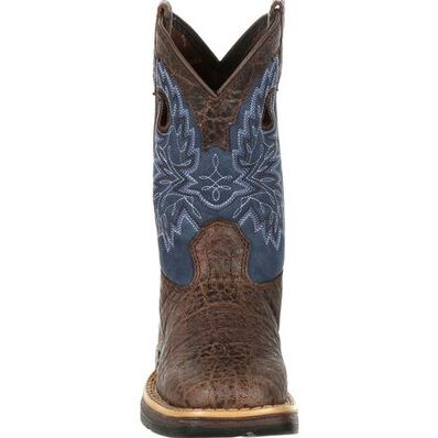 Lil' Rebel™ by Durango® Little Kids Faux Exotic Western Boot, , large