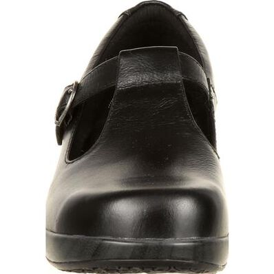 4Eursole Comfort 4Ever Women's Black T-Strap Shoe, , large