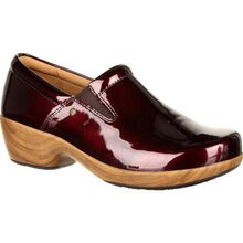 4Eursole Comfort 4Ever Women's Burgundy Patent Slip-On Shoe
