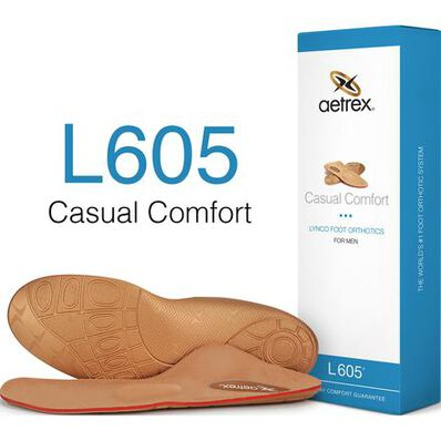 Aetrex Men's Casual Comfort Medium/High Arch Metarasal Support Orthotic, , large