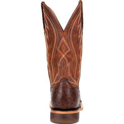 Durango® Premium Exotic Full-Quill Ostrich Chestnut Western Boot, , large