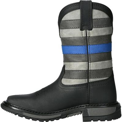 Rocky Blue Line Kid Western Boot, , large