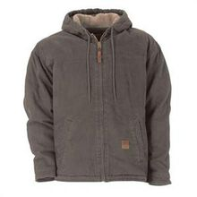 Berne Greystone Sherpa Lined Sanded Hooded Work Jacket