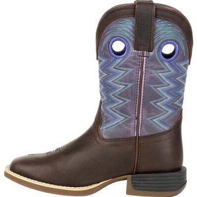 Durango Lil' Rebel Pro Little Kid's Amethyst Western Boot, , large