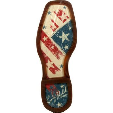 Lady Rebel™ by Durango® Women's Distressed Flag Embroidery Western Boot, , large
