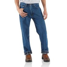 Carhartt Relaxed-Fit Straight-Leg Flannel-Lined Jean