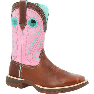 Lady Rebel™ by Durango® Women's Chestnut & Pink Rose Western Boot, , large