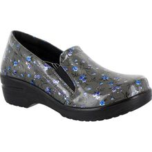 Easy WORKS by Easy Street Leeza Women's Slip-Resistant Patent Slip-On Shoe