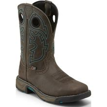Justin Work Stampede Rush Men's Steel Toe Electrical Hazard Waterproof Pull-on Western Work Boot