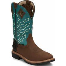 Justin Original Work Hybred Men's Steel Toe Waterproof Western Work Boot