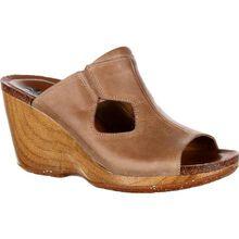 4EurSole Joyful Women's Brown Leather Slide
