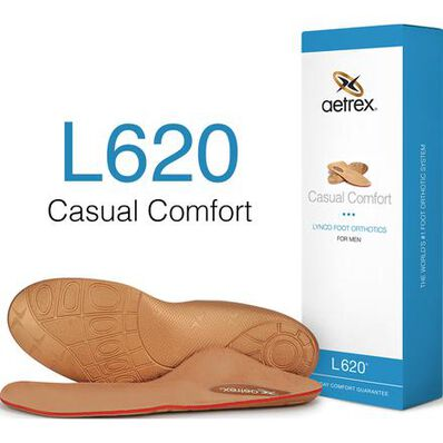 Aetrex Men's Casual Comfort Flat/Low Arch Orthotic, , large