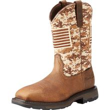 Ariat WorkHog Patriot Men's 11 inch Steel Toe Electrical Hazard Western Work Boot