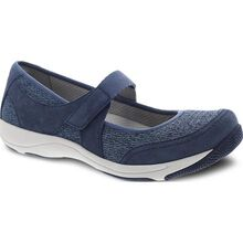 Dansko Hennie Women's Casual Blue Suede Slip-on Shoe with Strap