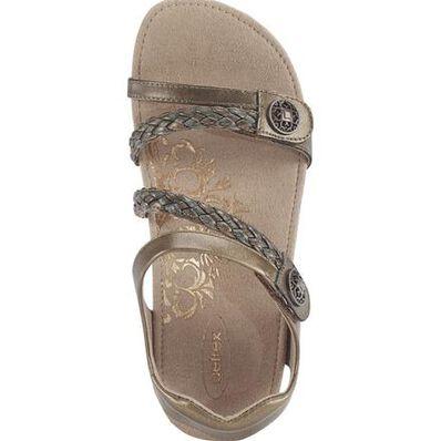 Aetrex Jillian Women's Casual Bronze Leather Sandal, , large