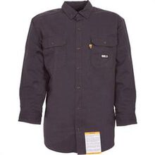 Berne Fire-Resistant Navy Button Down Work Shirt