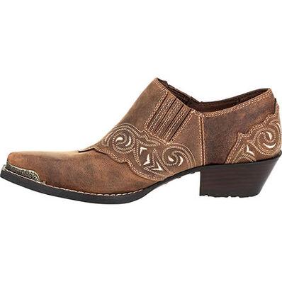 Crush™ by Durango® Women's Distressed Tan Shoe Boot, , large