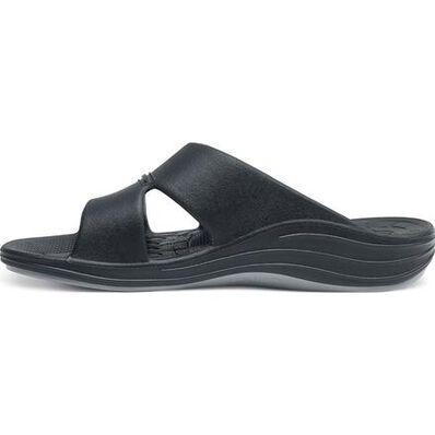 Aetrex Bali Men's Casual Black Slide Slip-on Shoe, , large
