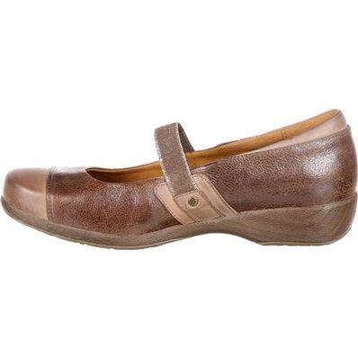 4EurSole Minuet Women's Brown Gore Mary Jane Shoe, , large