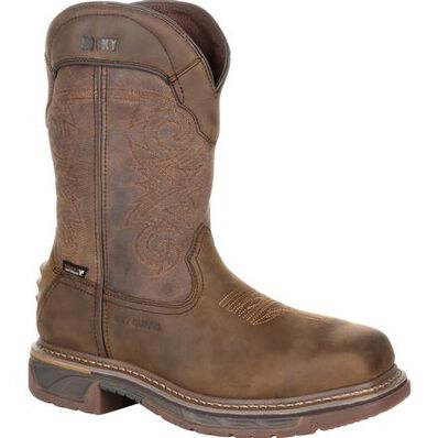 Rocky Iron Skull Composite Toe Internal Met Guard Waterproof Western Boot, , large