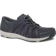 Dansko Honor Women's Casual Charcoal Metallic Suede Oxford