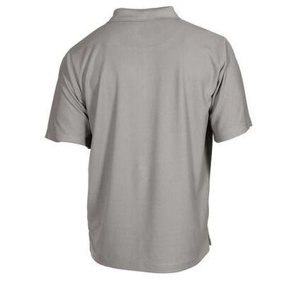 Rocky Logo Short-Sleeve Polo Shirt, GRAY, large