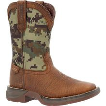 Lil' Rebel™ by Durango® Big Kids' Digi Camo Western Boot