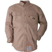 Berne FR Khaki Button-Down Work Shirt