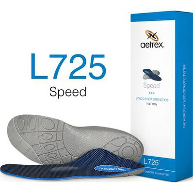 Aetrex Speed Men's Low/Flat Arch Posted with Metatarsal Support Orthotic, , large