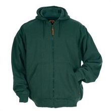 Berne Green Thermal-Lined Hooded Sweatshirt