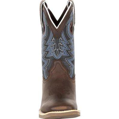 Durango® Lil' Rebel Pro™ Little Kid's Blue Western Boots, , large